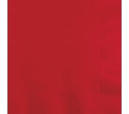Servetėlės, raudonos (20 vnt.)