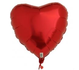 Folinis balionas-širdelė, raudona (45 cm)