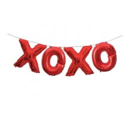 """Folinių balionų rinkinys """"XOXO"""", raudonas (35 cm)"""
