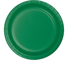 Lėkštutės, žalios (8 vnt./22 cm)