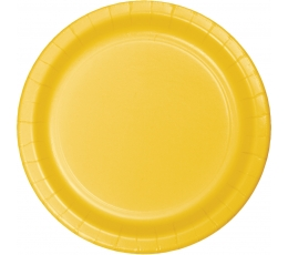 Lėkštutės, geltonos (8 vnt./22 cm)
