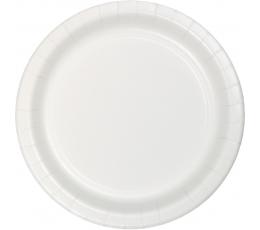 Lėkštutės, baltos (8 vnt./22 cm)