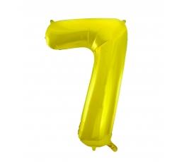 "Folinis balionas ""7"", auksinis (85 cm)"