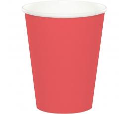 Puodeliai, koralo spalvos (24 vnt./266 ml)