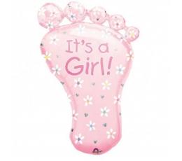 """Folinis balionas """"Rožinė pėdutė"""" (78 cm)"""