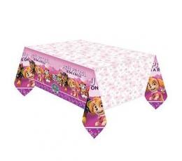 """Staltiesė """"Šuniukai Patruliai"""", rožinė (137x244 cm)"""