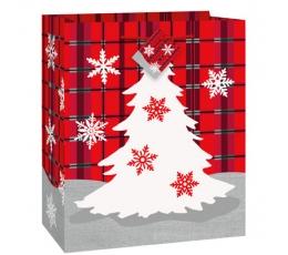 """Dovanų maišelis """"Languotos Kalėdos"""" (18x10x23 cm)"""