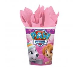 """Puodeliai """"Šuniukai Patruliai"""", rožiniai (8 vnt./250 ml)"""