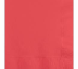 Servetėlės, koralo spalvos (50 vnt.)