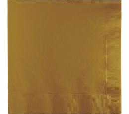 Servetėlės, rusvai auksinės spalvos (50 vnt.)
