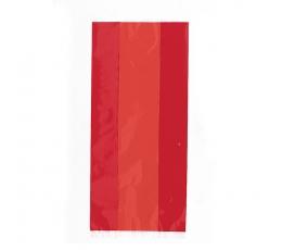Skanėstų-dovanų maišeliai, raudoni celofaniniai (30 vnt.)