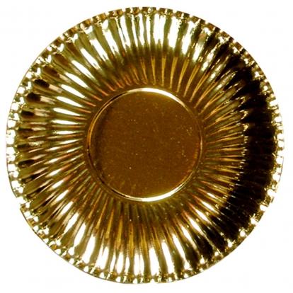Lėkštutės-padėkliukai, auksiniai (10 vnt./ 29 cm)