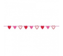 """Girlianda """"Raudonos širdelės"""" (1,96 m)"""