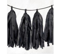 Kutosų girlianda, juoda  (2,74 m)