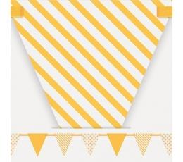 Vėliavėlių girlianda, geltonai balta (3,23 m)