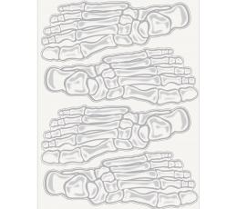"Dekoracijos-lipdukai ""Skeleto pėdos"""