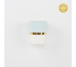 Puodeliai, melsvi su auksu (8 vnt./250 ml)