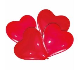 Balionai-širdelės, raudoni (4 vnt./30 cm)