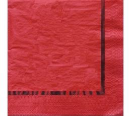 Servetėlės, raudonos blizgios (16 vnt.)