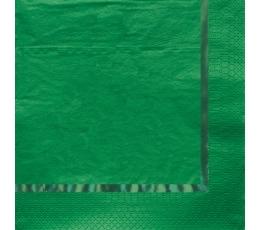 Servetėlės, žalios blizgios (16 vnt.)