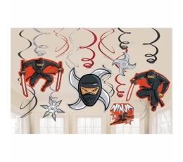 """Kabančios dekoracijos """"Nindzės"""" (12 vnt.)"""