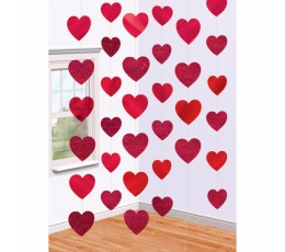 """Kabančios dekoracijos """"Širdelės"""" (6 vnt./2 m)"""