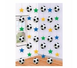 """Kabančios dekoracijos """"Futbolas"""" (6 vnt.)"""