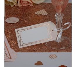 Dekoratyvinės etiketės, rožinio aukso figūros (10 vnt.)