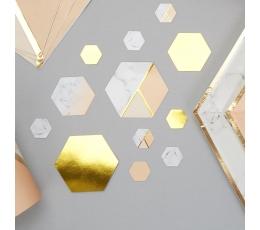 Popieriniai konfeti, persikiniai-marmuriniai (100 vnt.)