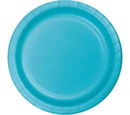 Lėkštutės, vandenyno spalvos (24 vnt./17 cm)