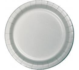 Lėkštutės, sidabrinės (24 vnt./22 cm)