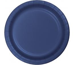 Lėkštutės, tamsiai mėlynos (24 vnt./17 cm)