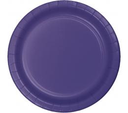 Lėkštutės, violetinės (24 vnt./17 cm)