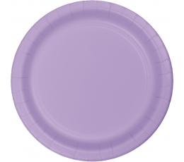 Lėkštutės, alyvinės (24 vnt./17 cm)
