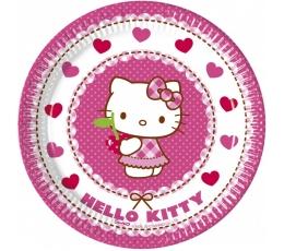 """Lėkštutės """"Hello Kitty"""" (8 vnt./20 cm)"""