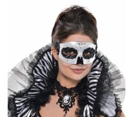 Domino kaukė, juodai balta