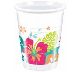 """Plastikiniai puodeliai """"Havajai"""" (8 vnt./200 ml)"""