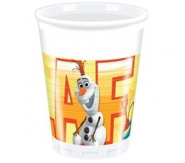 """Plastikiniai puodeliai """"Olafo vasara"""" (8 vnt./200 ml)"""