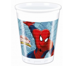 """Plastikiniai puodeliai """"Žmogus voras"""" (8 vnt./200 ml)"""