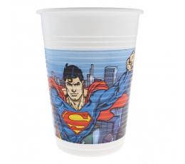 """Plastikiniai puodeliai """"Supermenas"""" (8 vnt./200 ml)"""