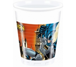 """Plastikiniai puodeliai """"Betmenas (8 vnt./200 ml)"""