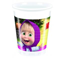 """Plastikiniai puodeliai """"Maša ir lokys"""" (8 vnt./200 ml)"""