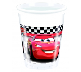"""Plastikiniai puodeliai """"Ratai"""" (8 vnt./200 ml)"""