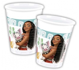 "Plastikiniai puodeliai ""Moana/Vajana"" (8 vnt./200 ml)"