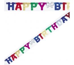 """Girlianda """"Happy Birthday"""", spalvota (1,5 m)"""