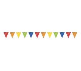 Vėliavėlių girlianda, spalvota (10 m)