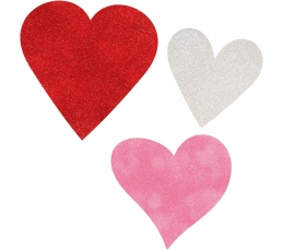 "Karpiniai-dekoracijos ""Širdelės"", spalvotos (6 vnt.)"