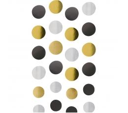 Kabančios dekoracijos, juodos-auksinės-sidabrinės (4 vnt.)