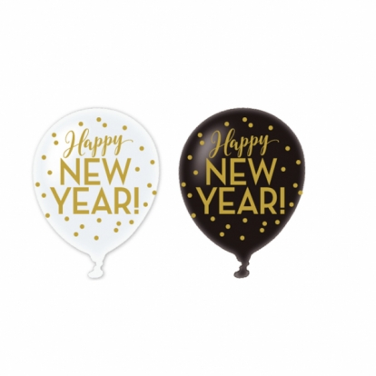 "Balionai ""Happy New Year"" (6 vnt./27,5 cm)"