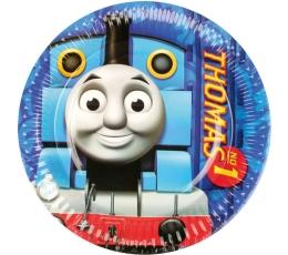 """Lėkštutės """"Traukinukas Tomas"""" (8 vnt./18 cm)"""